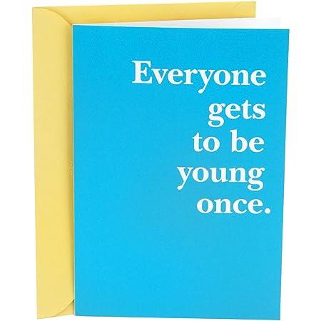 Hallmark Shoebox Funny Birthday Card (Young Once)