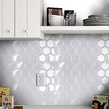 3D Self Adhesive Kitchen Wall Tiles Bathroom Mosaic Tile Sticker Peel Stick