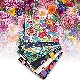 Tessuto Cotone Stoffa, 7PCS Tessuto per cucire in cotone Tessuto per trapunta fai-da-te con stampa vegetale foresta pluviale, Tessuti Stoffe Patchwork