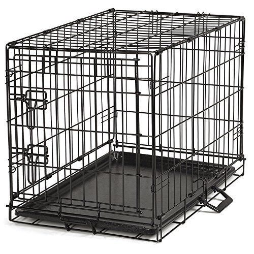 Proselect Easy Dog Crates for Dogs and Pets - Black; Extra Small