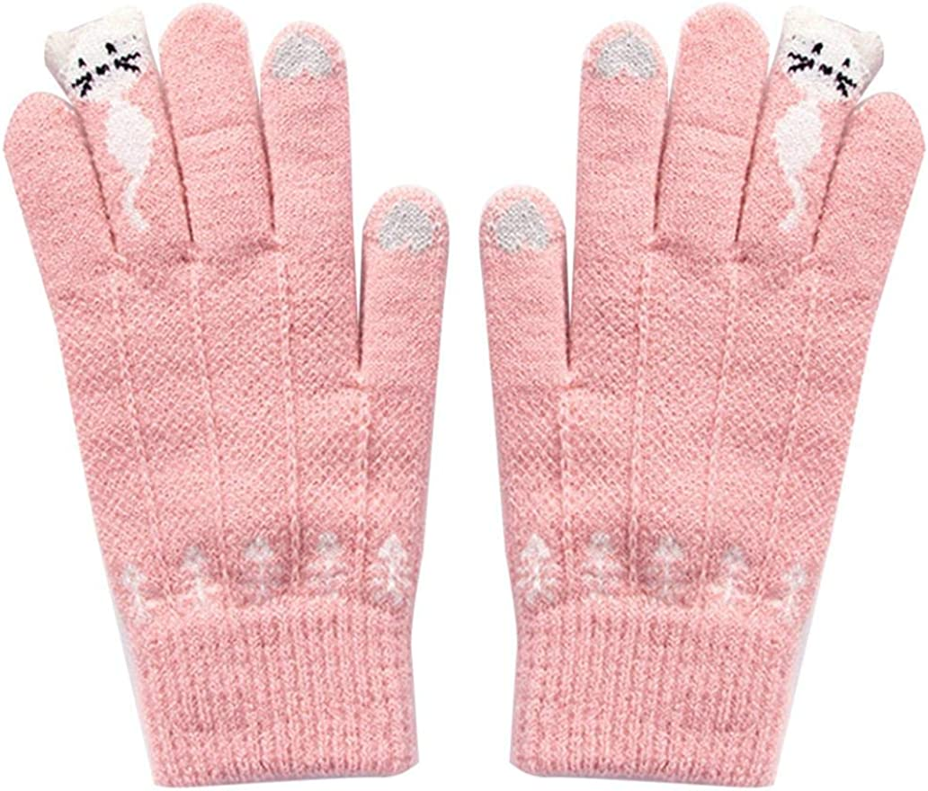 Max Max 68% OFF 68% OFF Cold Weather Gloves Warm Thermal Glove Unisex Anti-Slip Knit for