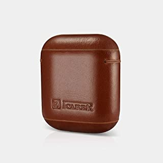 Icarer airpod Vintage Leather Protective case -Brown