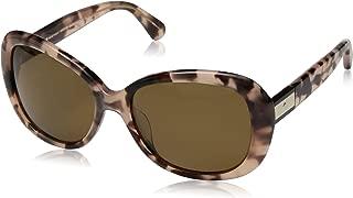 Kate Spade Women's Judyann/p/s Oval Sunglasses, Pink Havana/Bronze Polarized, 56 mm