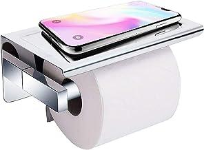 Acelink autoadhesivo Soporte para papel higiénico con estante, montado en la pared sin perforar, acero inoxidable 304