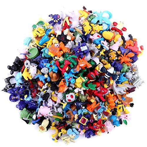 Regalo de cumpleaños nuevo 144pcs Tomy Diferentes Figuras Pokemon Colección Modelo 2-3cm Pokémon Pikachu Anime Figura Juguetes Muñecas Regalo de cumpleaños para niños