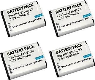 Cargador de batería EN-EL23 ENEL23 LCD Single Charger para Nikon COOLPIX P600 S810c P900 P610 Camera