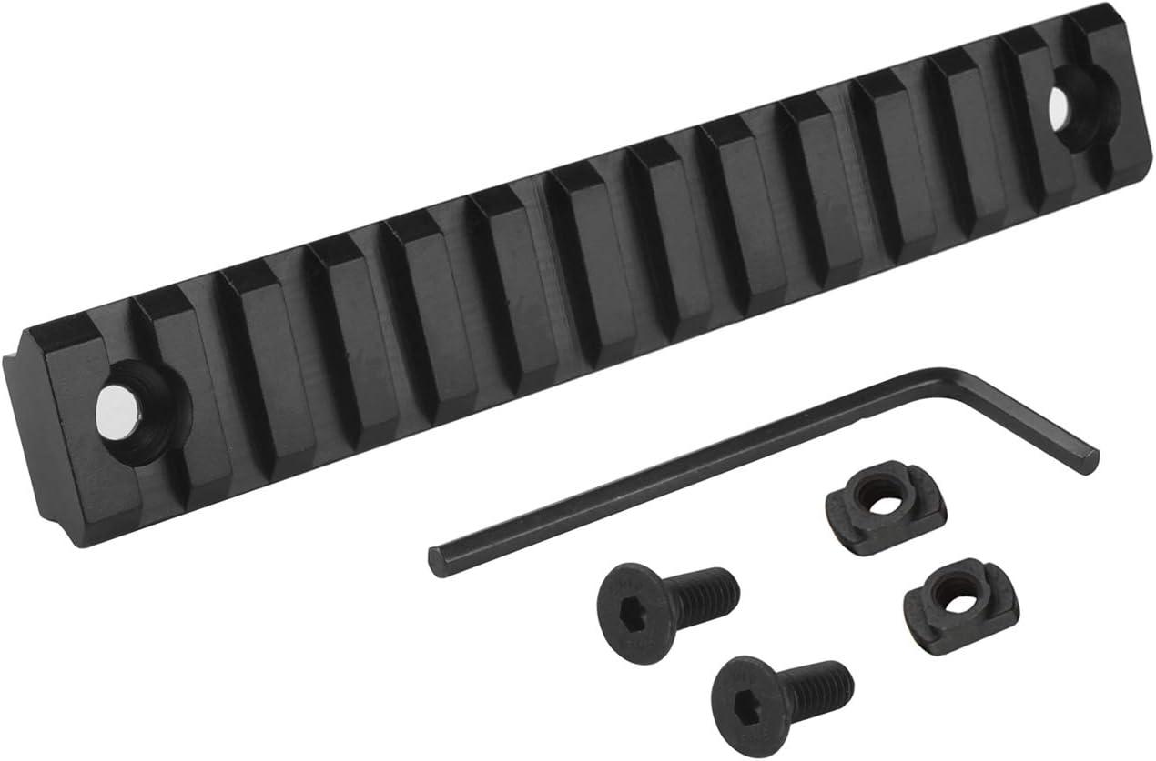 Picatinny Rail Mount M-Lok//Keymod Handguard Rail Section Set with T-Nuts Screws Allen Wrench Alluminio Softair Tattico Guida per Fucile Accessori per la Caccia CJ//YGDG-01