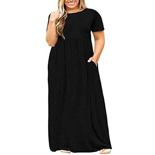 Black Plus Size Maxi Dress: Amazon.com