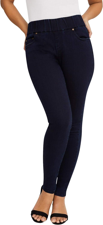 Jessica London Women's Plus Size Comfort Waistband Skinny Jeans Pull On Stretch Denim Leggings Jeggings - 26 W, Indigo