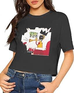 Jean Michel Basquiat Shirt Women's Sexy Exposed Navel T-Shirt Girls Novelty Crop Tops Blouse