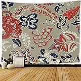 Tapiz Tapices de pared,Patrón de textura de impresión Flores de fantasía Encaje Texturas naturales Tapiz ornamental sin costuras para dormitorio-60_x_50_inches