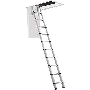 HASTA 150 Kg DE CARGA! Escalera plegable y escamoteable para hueco de 60x100 cm.: Amazon.es: Bricolaje y herramientas