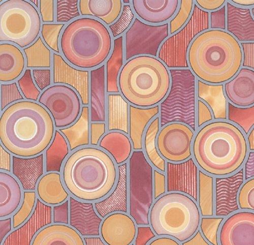 Bunte Fensterfolie Target - Glasdekorfolie Bleiglas Look selbstklebend Adhesive 0,45m x 2,00 m - Dekorfolie Mosaik
