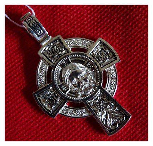 """Schöner orthodoxes Kreuz Schutz gegen die Kräfte des Bösen """"Ikone des Erlösers"""" Silber DM100"""