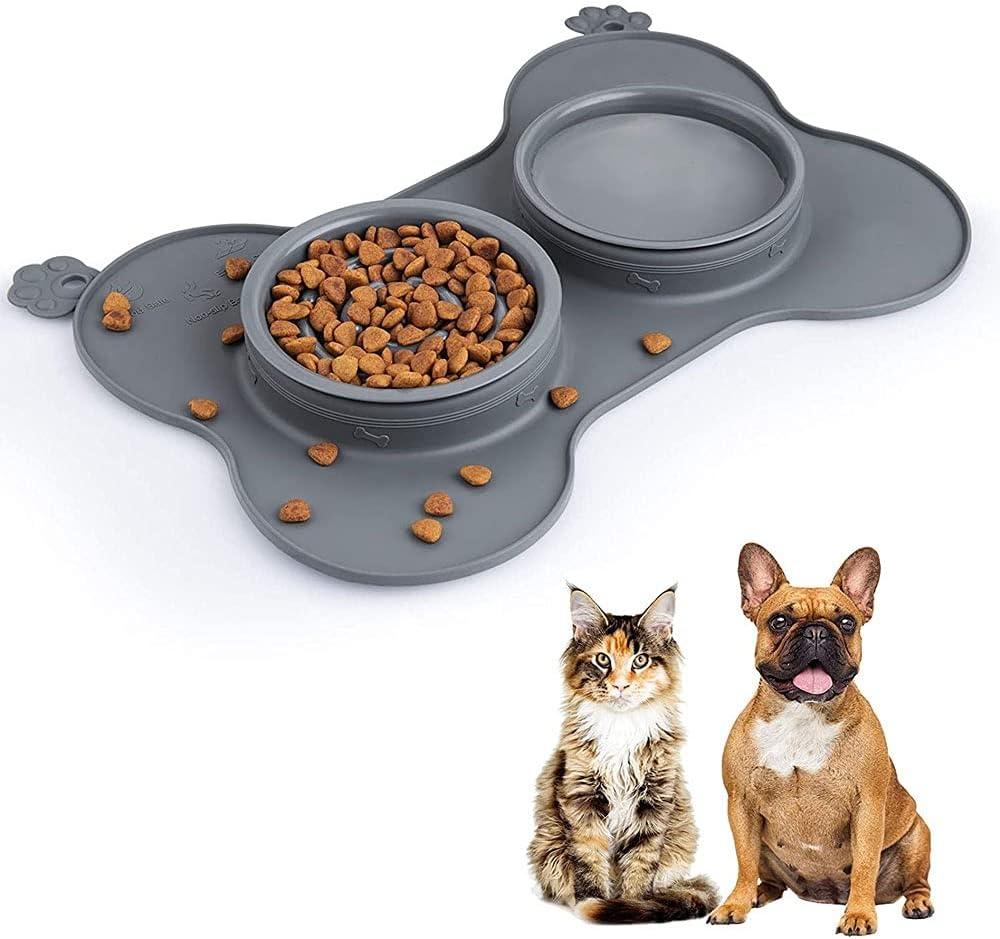 Nippon regular agency WEIJ Low price 3-in-1 Dog Bowl Foldable Pet Slow Ca Feeder