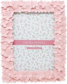 Laura Ashley 5×7 Pink Flower Textured Hand-Crafted Resin Picture Frame with Easel..
