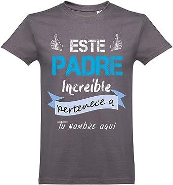 Oneroi Custom Camiseta Personalizada Papá Increible Mod.3 ...
