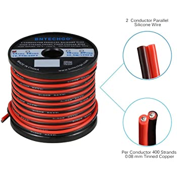 BNTECHGO 14 Gauge Silicone Wire Ultra Flexible 80 Feet high Temp 200 deg C 600V 14 AWG Silicone Wire 400 Strands of Tinned Copper Wire Stranded Wire Model Battery Cable Black and Red Each Color 40 ft bntechgo.com