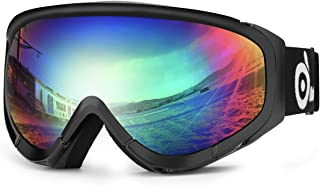 Odoland Snow Ski Goggles S2 Double Lens Anti-Fog Windproof UV400 Eyewear for Adult and..