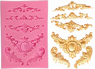 REHTRAD 3D Silicone Fondant Cake Decorating Mould Chocolate Mold DIY Decorating Tools (Pink)