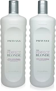 Pravana The Perfect Blonde Purple Toning Shampoo & Conditioner Liter Duo Set