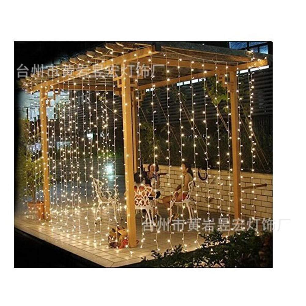 YOBENS NBM 3M X 3M 304 Cortina Led Luces de Cadena Guirnalda de Navidad Decoraciones navideñas para el hogar Decoraciones de año Nuevo Navidad kerst W-xinyue Colorido_220V EU Plus: Amazon.es: Hogar