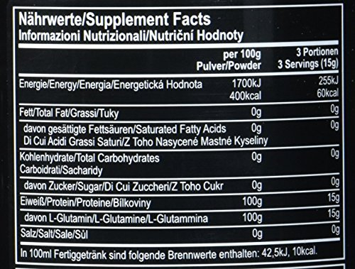 All Stars 100% Glutamin Pur, 1er Pack (1 x 400 g) - 7
