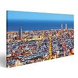 Bild Bilder auf Leinwand Skyline von Barcelona,