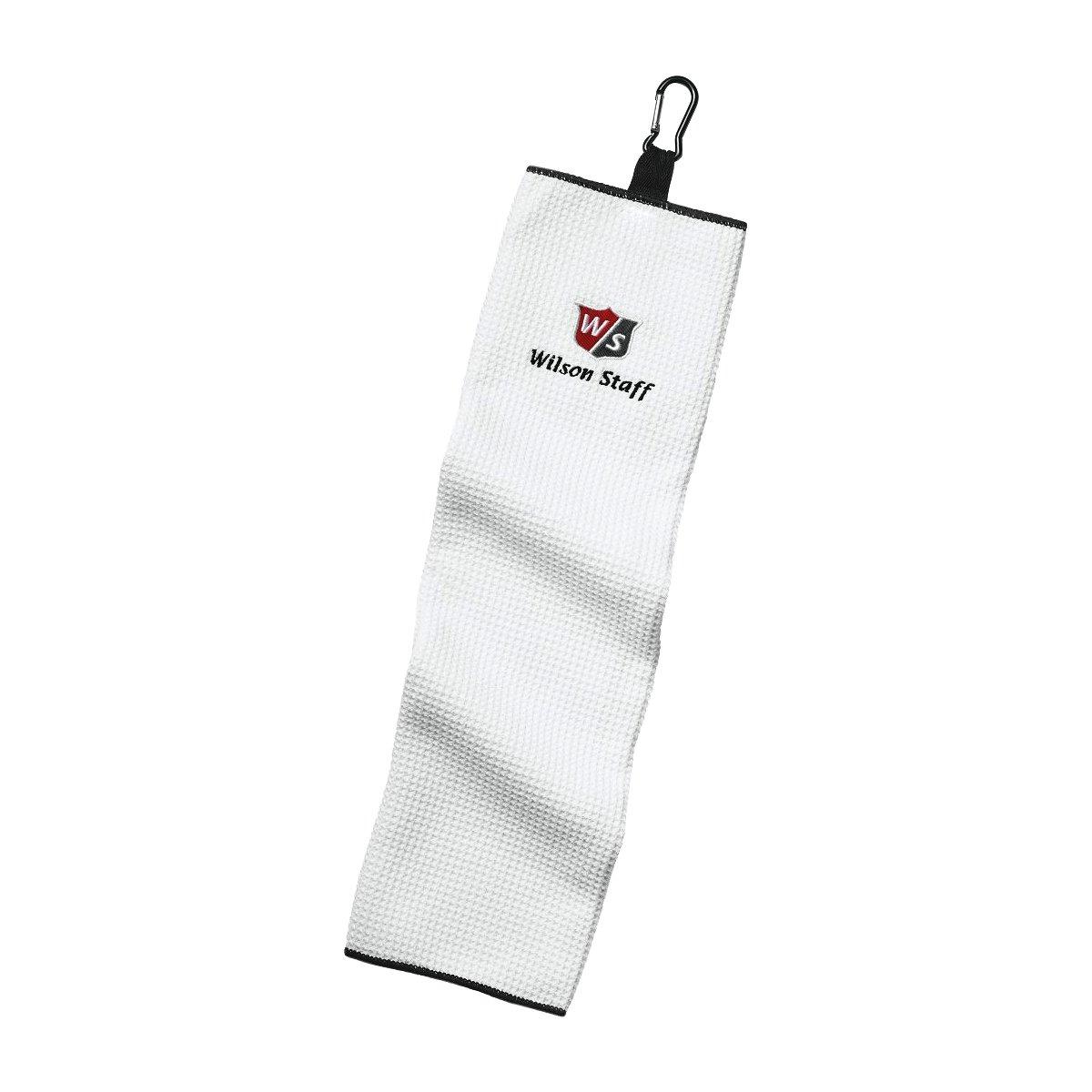 Wilson Staff Tri-Fold Golf Handtuch, Einhängeöse, Sehr saugfähig, Baumwolle,