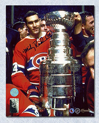 Mickey Redmond Montreal Canadiens Autographed Stanley Cup 8x10 Photo