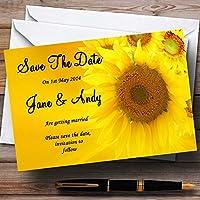 ひまわりPersonalized結婚を保存日付カード 150 Invitations