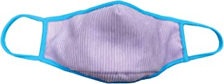 iscream Adult's Lavender Corduroy Double Layer Face Cover with Pocket