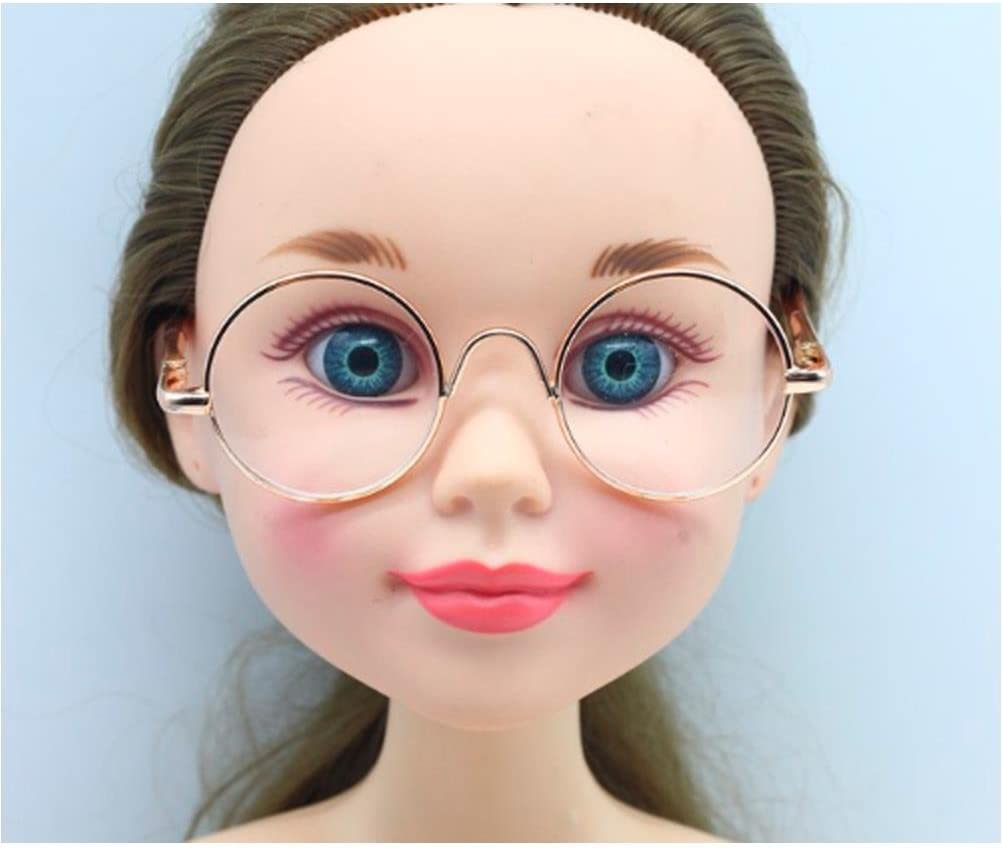 Round Frame Clear Lens Eyewear Glasses for 12/'/' Blythe Dolls Accessory .cc