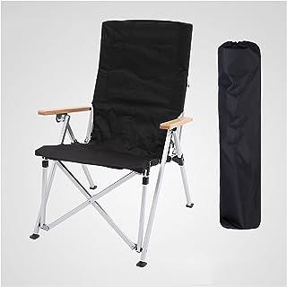 WOERD Chaise de Camping, Fauteuil Pliable avec Accoudoirs et Porte-gobelets, Chaise Pliante Compacte et Légère pour Les Fe...