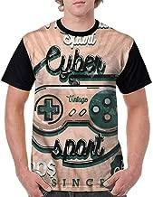 BlountDecor Cotton T-Shirt,Gamer Guy Flat Diploma Trophy Fashion Personality Customization