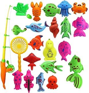 Anniston Kids Toys, 22Pcs Magnetic Fishing Tools Set Baby Bath Parent-Child Interaction Puzzle Toy Puzzles & Magic Cubes f...