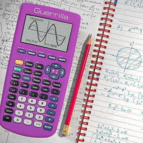 Guerrilla Silicone Case for Texas Instruments TI-83 Plus Graphing Calculator, Purple Photo #9