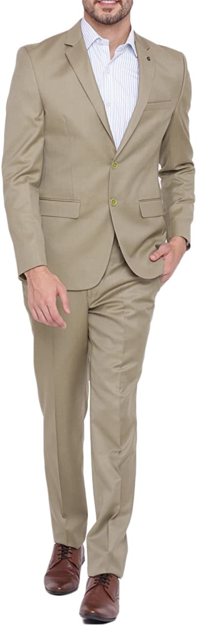 Fenghuavip Men's Tuxedo Suits For Formal Wedding 2 Pcs