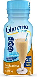 Glucerna, Diabetes Nutritional Shake with 10g of Protein, To Help Manage Blood Sugar, Classic Butter Pecan, 8 fl oz (Pack ...