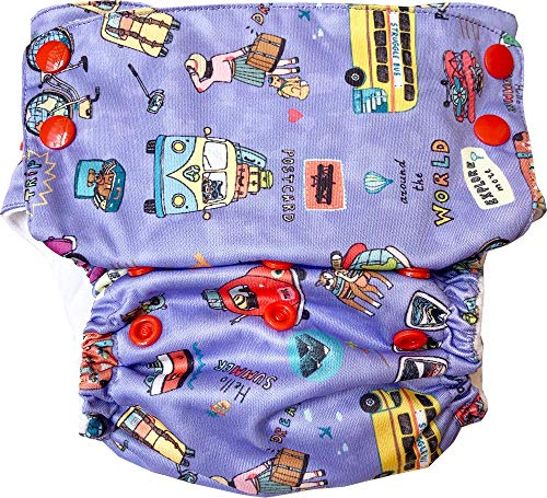 Bumpadum Duet Stay Dry All-in-1 Diaper (Lapland, One Size)