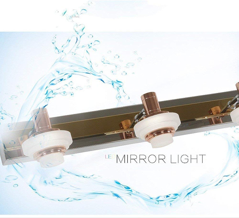 LED-Edelstahl-Richtungs-Beleuchtung-Scheinwerfer-Wand-Spiegel-Front-Lampe wasserdicht und einfach modern für Badezimmermake-upspiegel 3head-46-weies Licht