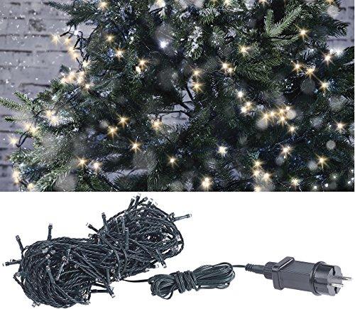 Lunartec Baumbeleuchtung: LED-Lichterkette mit 160 LEDs für innen & außen, IP44, warmweiß, 16 m (LED Ketten)