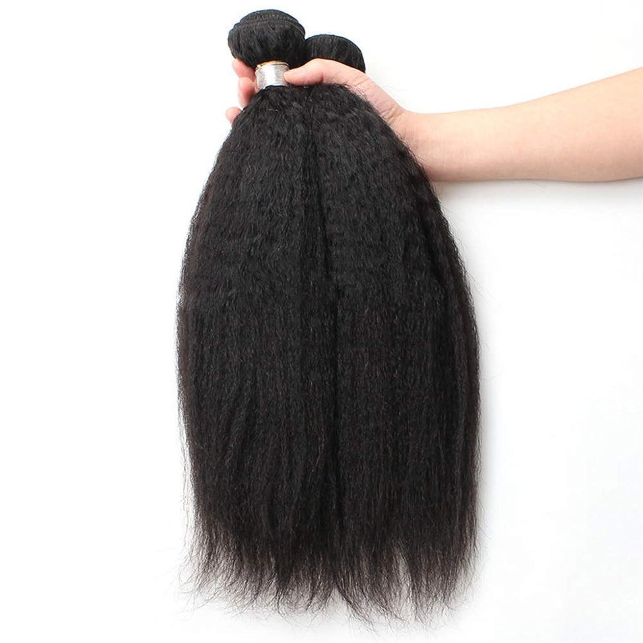 今日パレード一人でBOBIDYEE 9Aブラジル人変態ストレート人間の髪1バンドル焼きストレートヘア100%未処理の人間の毛髪延長ナチュラルブラックカラー複合毛レースのかつらロールプレイングかつらストレートシリンダーショートスタイル女性自然 (色 : 黒, サイズ : 14 inch)