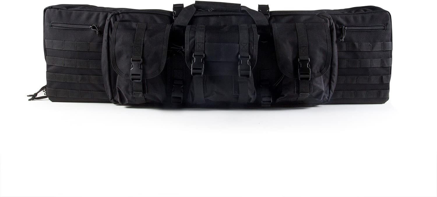 D3FY Premium Free shipping Double Rifle Case Black 4 years warranty with Backpack 42