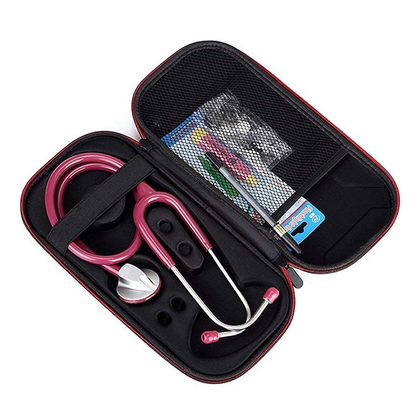 クローゼットトリッキーめんどりGubest 聴診器 収納ポーチバッグ ケース For リットマン 聴診器 クラシックIII 5840/5620/5831/5812/5623/5803/5811/対応キャリングケース EVA 保護ケースポータブル 専用のケース (ブラック+レッドファスナー)
