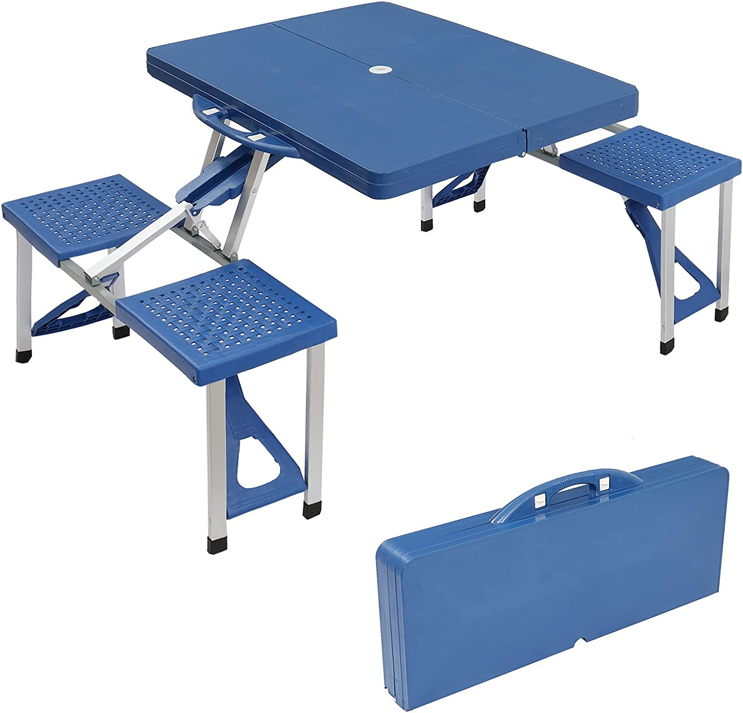 Portable Bargain Foldable Ranking TOP19 Camping Picnic Table 4 Patio with U Seats