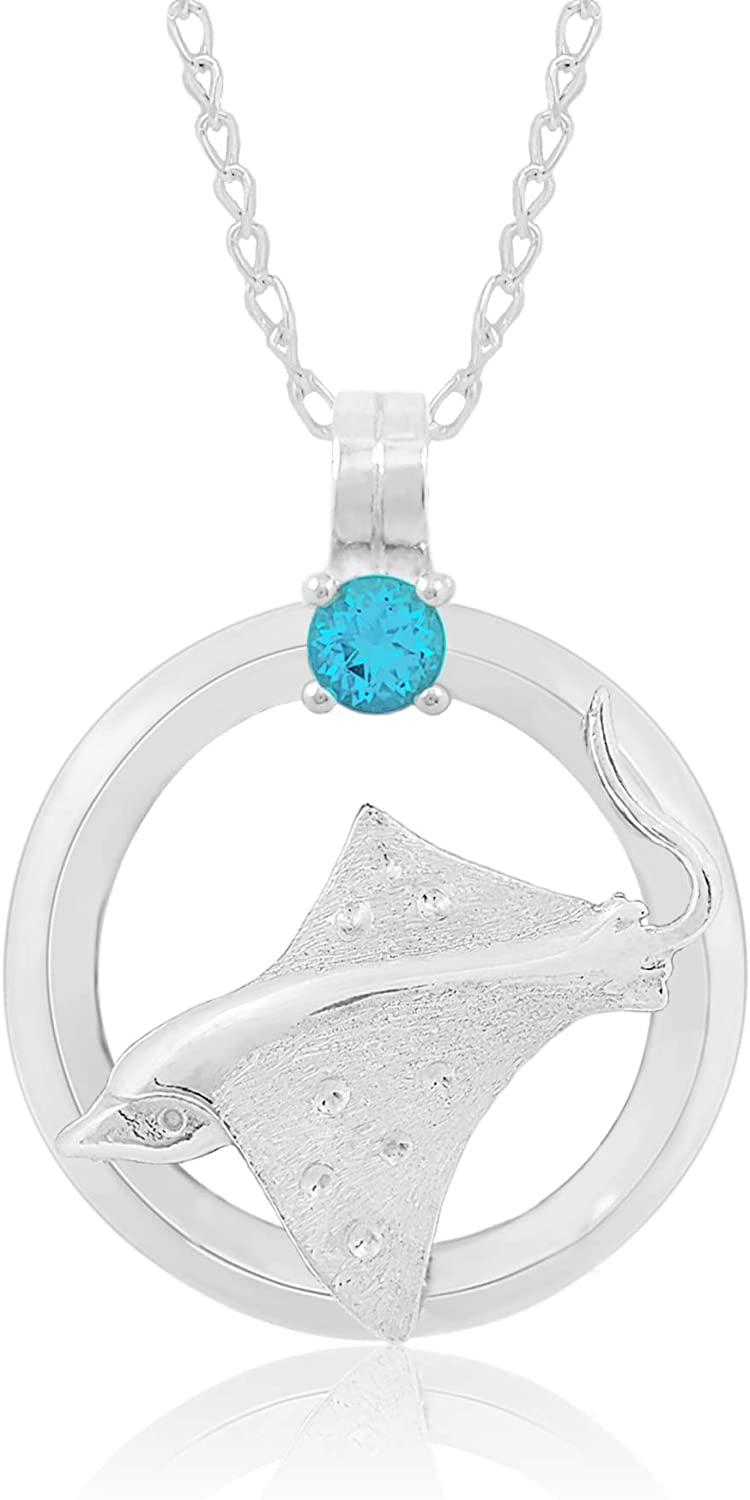 Bahama Jewels - Sterling Silver Spotted Circle Blue of Life 2021 spring and summer new Super popular specialty store Ray