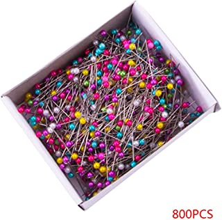 Morza 800 Pcs Multicolore Perle Perle Main Needlework Artisanat Couture Rotule en Acier Inoxydable Pins Box