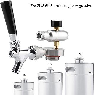 Grifo Dispensador de Cerveza,Kit de Dispensador de Grifo de Grifo de Lanza de Cerveza de Acero Inoxidable para 2L / 3.6L / 4L Mini Keg Beer Growler