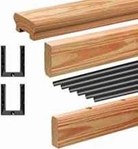 6 ft. Western Red Cedar Exterior Railing Kit with Black Aluminum Balusters